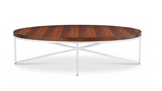 Domicile Cocktail Table with Walnut Top