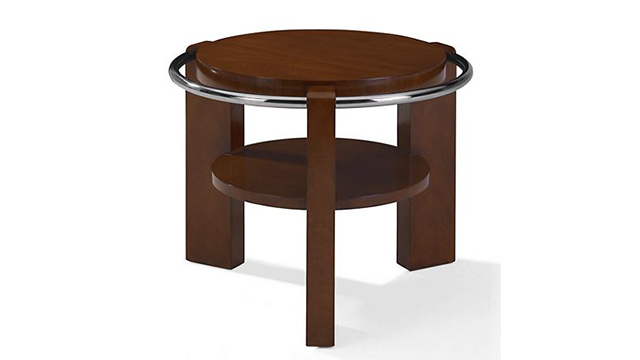 Cote D'Azur Starboard End Table Modern Hollywood Finish